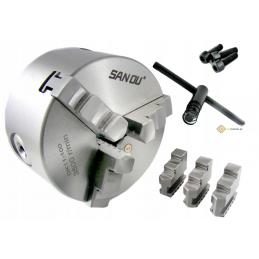 Uchwyt tokarski 3 szczękowy DK-11 100 mm DIN6350